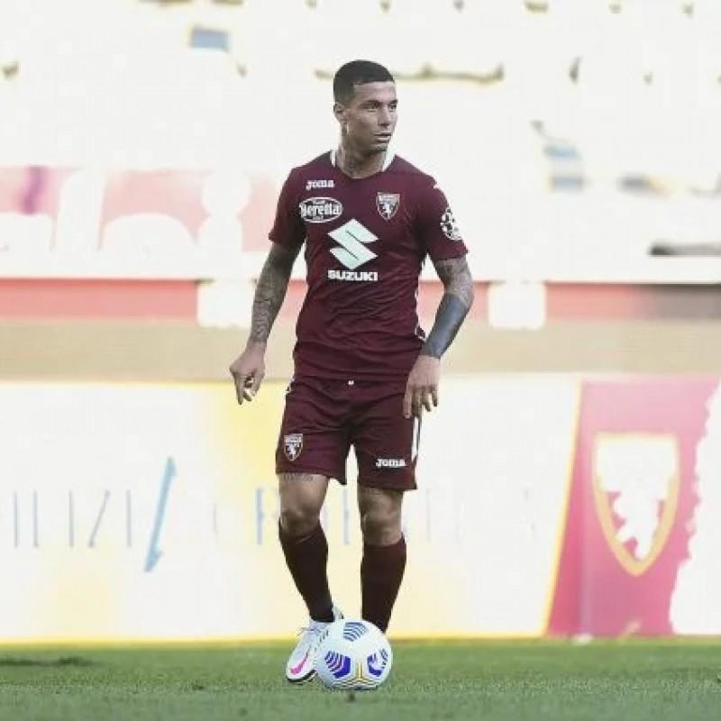 Izzo's Torino Signed Match Shirt, Coppa Italia 2020/21