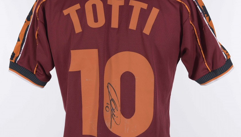 Francesco Totti's Roma Signed Shirt, 1998/1999 Season