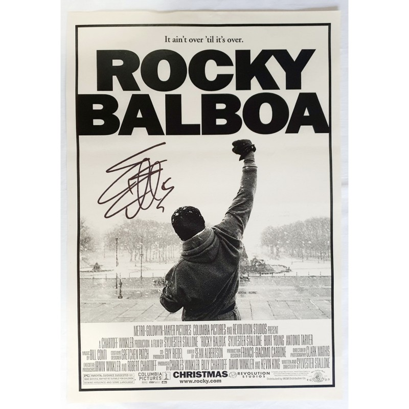 Rocky Balboa Poster Signed by Sylvester Stallone