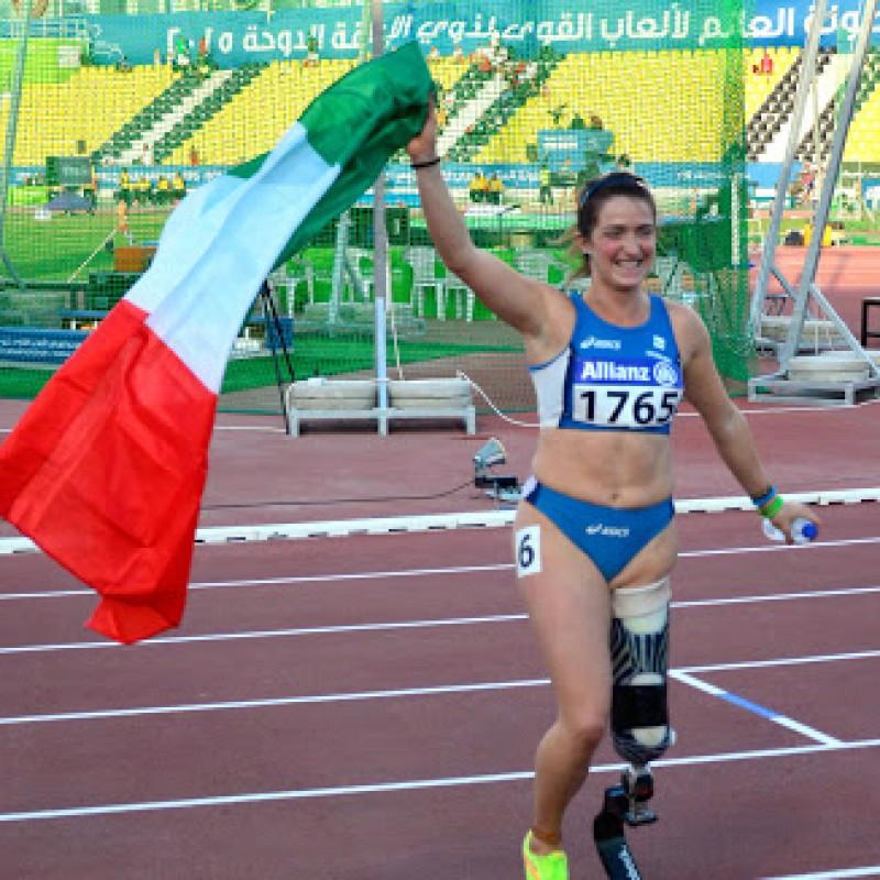 Martina Caironi's Bib Worn at the 2015 World Cup