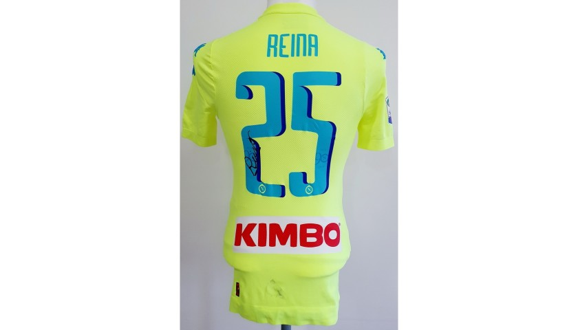 Reina's Napoli Match Worn & Signed Shirt, 2016/17