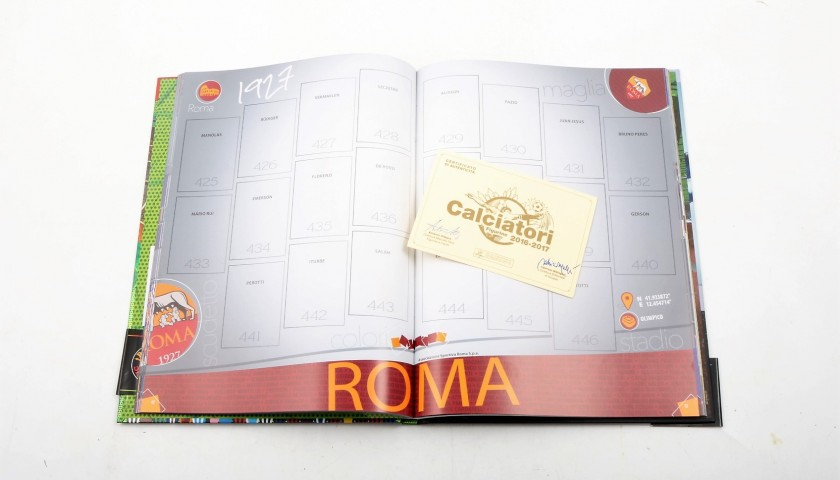 Borriello, Limited Edition Box and Signed Panini Maxi Sticker