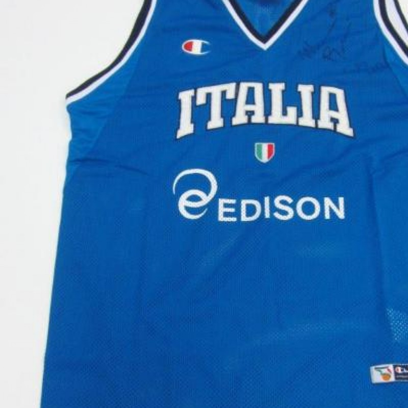 Marco Belinelli's worn and signed Italian National shirt