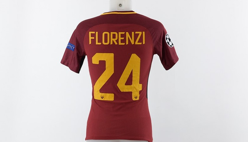 Florenzi's Match-Worn AS Roma Shirt, Roma-Qarabag 2017/18 CL