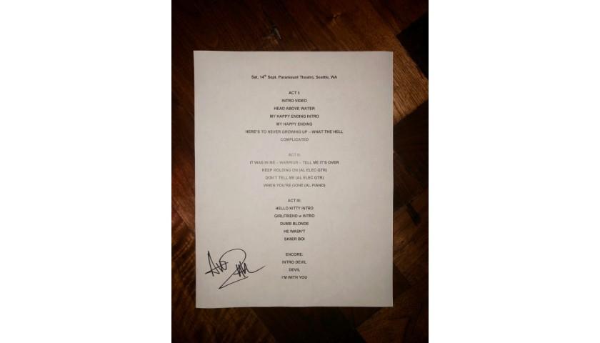 Autographed Setlist: Seattle