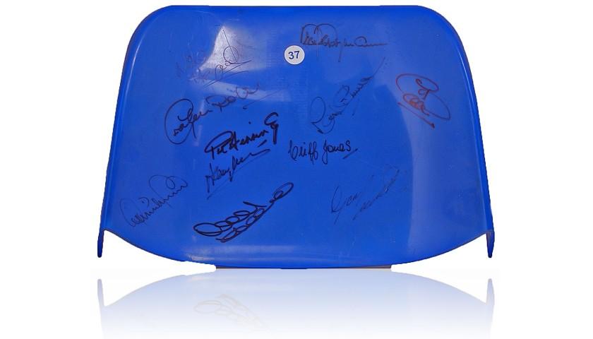Seat From Tottenham Hotspur's White Hart Lane Stadium Hand Signed by 11