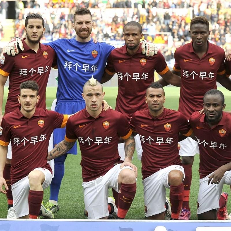 Maglia Ufficiale Totti Roma Capodanno Cinese, 2014/15 - Autografata