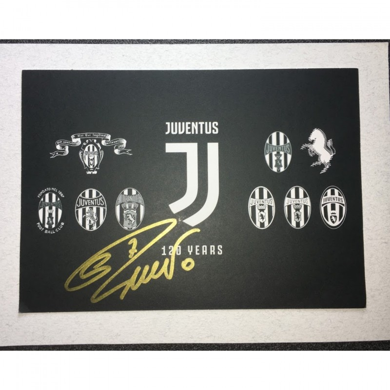 120 Years Juventus Postcard - Signed by Cristiano Ronaldo