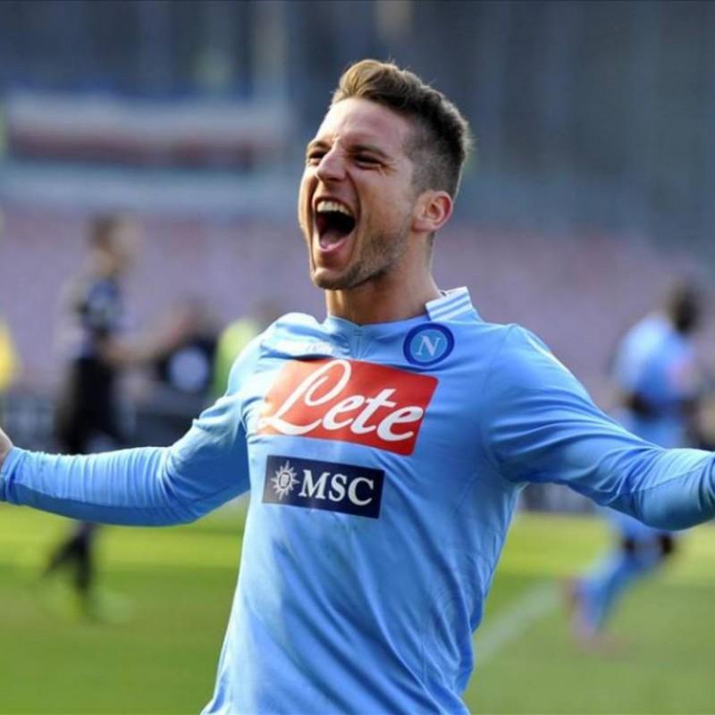 Mertens' Napoli Worn and Signed Shirt, 2013/14