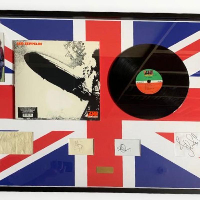 Led Zeppelin Signed Framed Display
