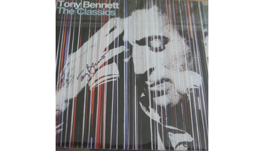Tony Bennett Signed Cd Display