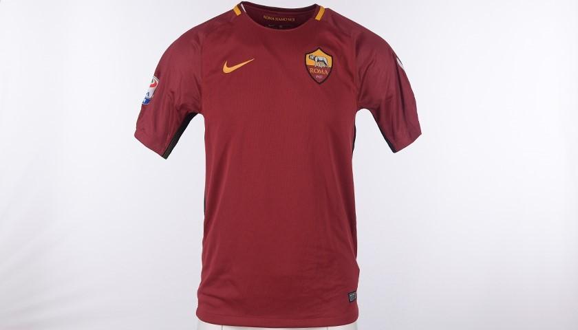 """Francesco Totti Signed Shirt 2017/2018 - """"Una squadra per la vita"""""""