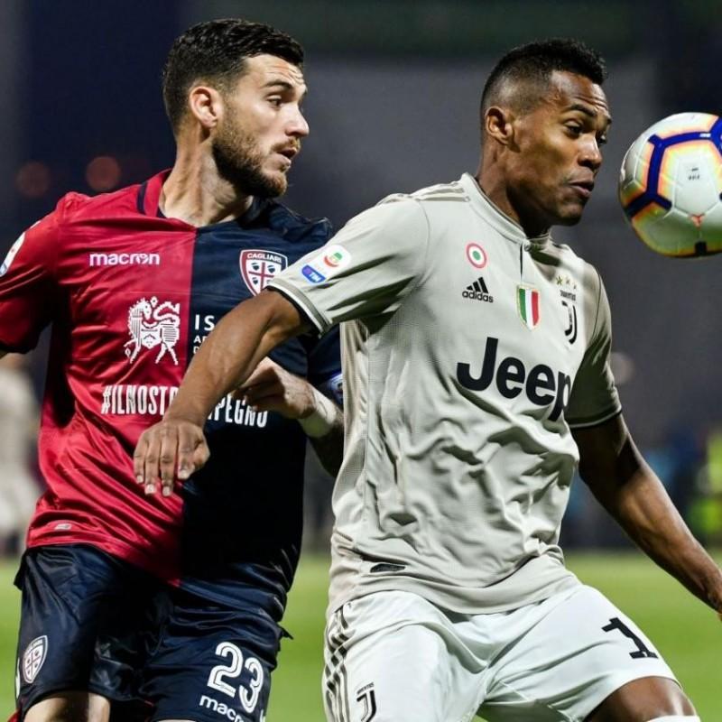 Alex Sandro's Match Shirt, Cagliari-Juventus 2019