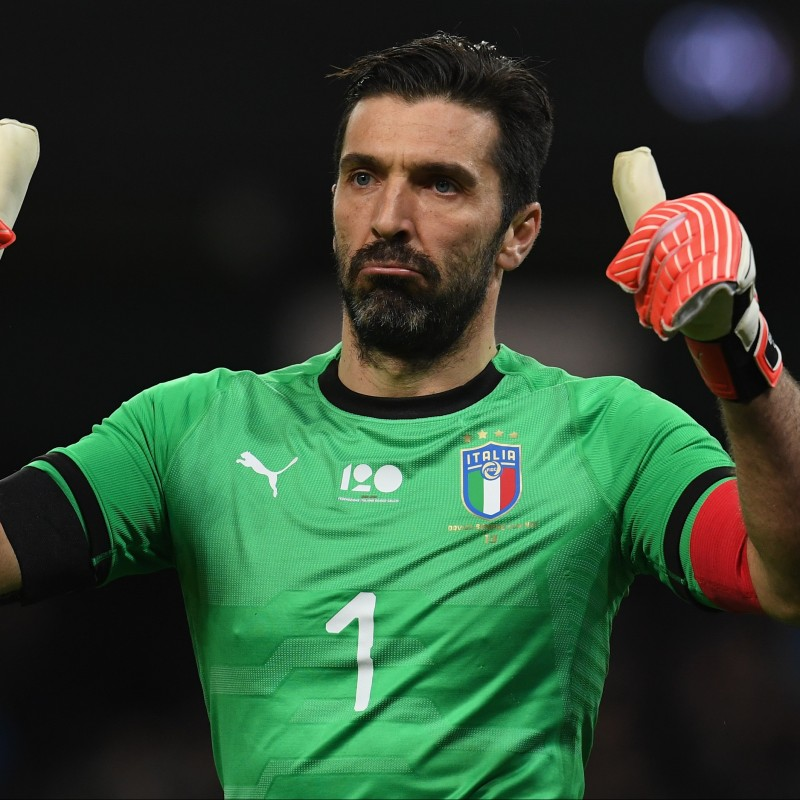 Buffon's Match-Issue/Worn Kit, Argentina-Italy 2018