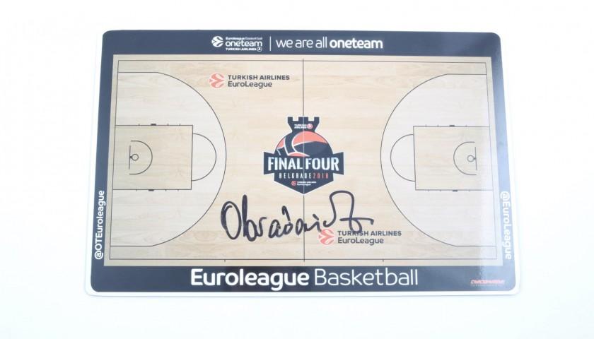 2018 Turkish Airlines EuroLeague Final Four Coach Board signed by Zeljko Obradovic