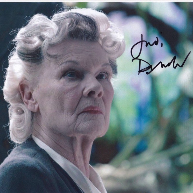 """""""Miss Peregrine's Home for Peculiar Children"""" - Photograph Signed by Judi Dench"""