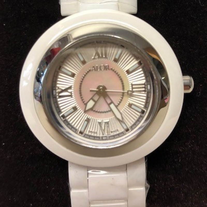 Alor White Ceramic and Stainless-Steel Watch