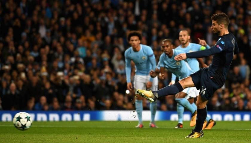 Mertens' Match-Worn Shirt, Manchester City-Napoli 2017