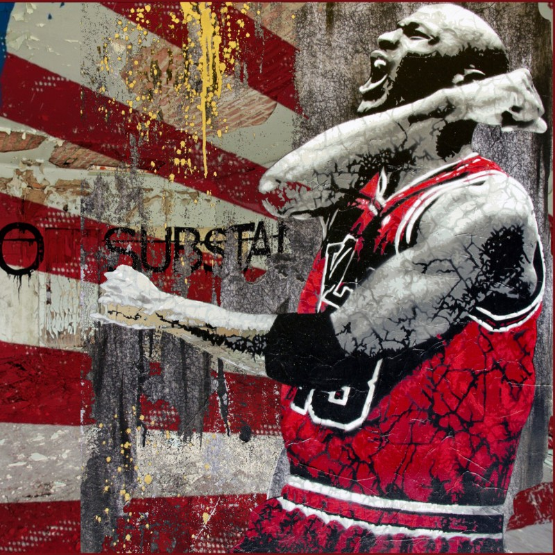 """Jordan vs Banksy"" by Mr Ogart"