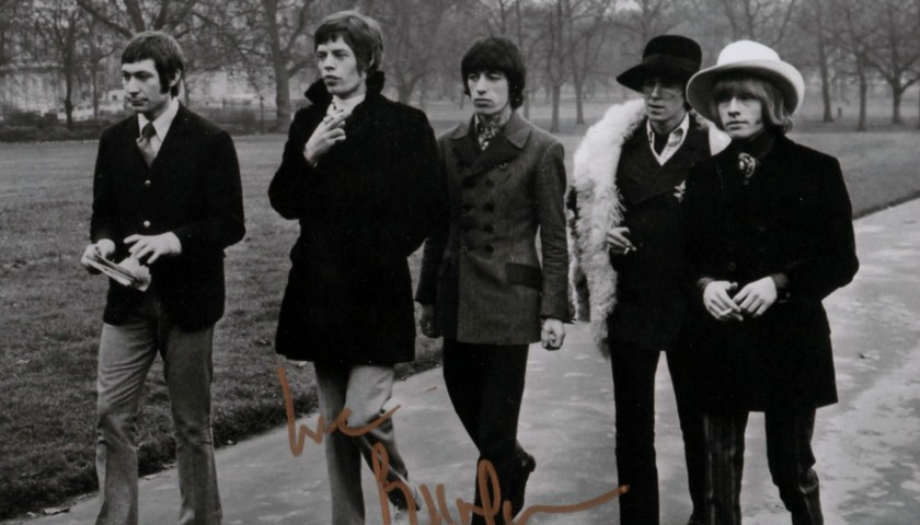 Rolling Stoned Picture signed by Bill Wyman