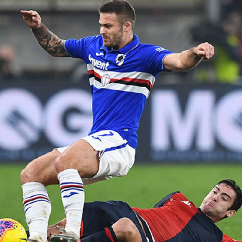 Linetty's Worn Shirt, Genoa-Sampdoria, Special Gaslini