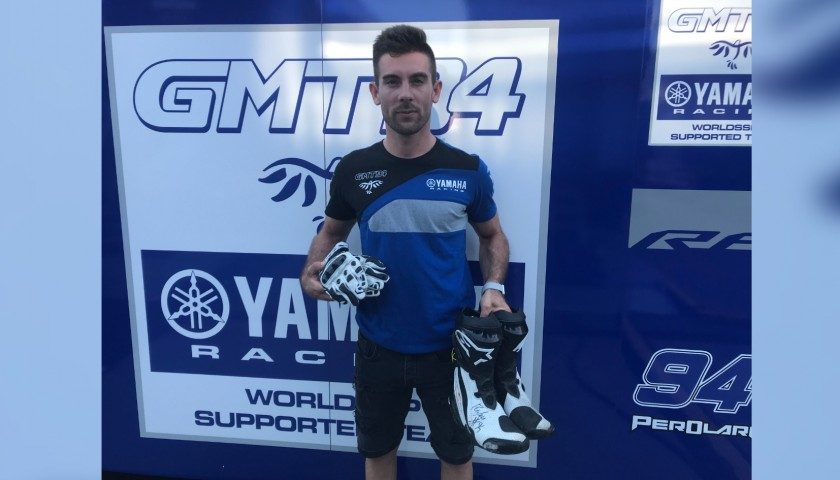 Racing Gloves Worn and Signed by Corentin Perolari at Portimao