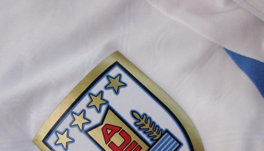 Giménez match worn shirt, Italy-Uruguay, WorldCup 2014 - unwashed