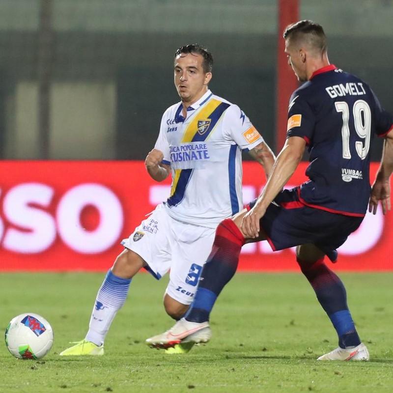Maiello's Frosinone Signed Match Worn Shirt, 20/21