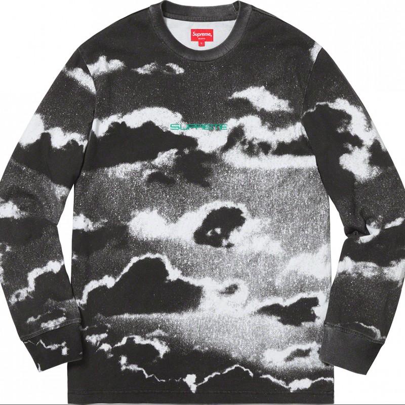 Cloud L/S White Sweatshirt - Supreme S/S 2019 Collection