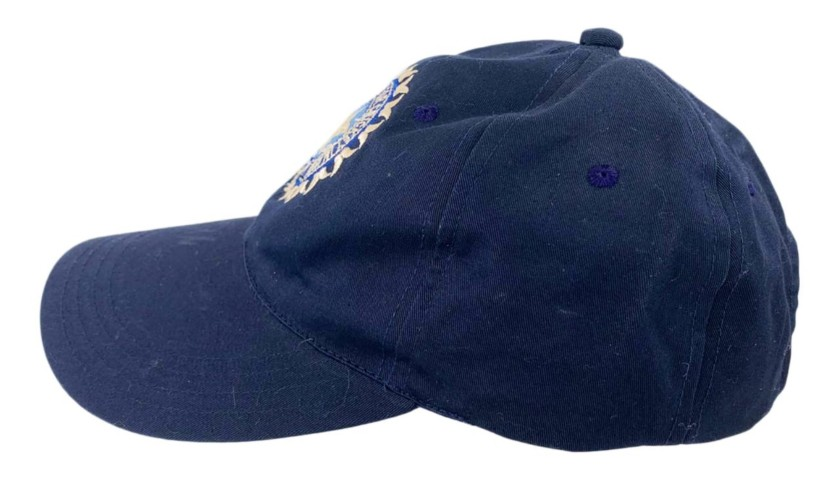 India Cricket Cap Signed by Anil Kumble