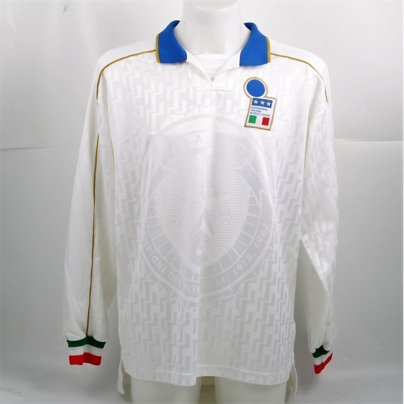Apolloni's Match-Issued/Worn 1995 Ukraine-Italy Shirt