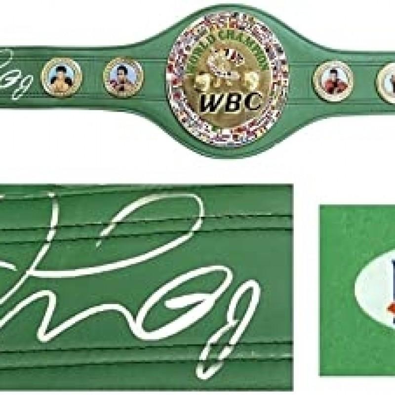 Floyd Mayweather, Jr. Hand Signed Championship Belt