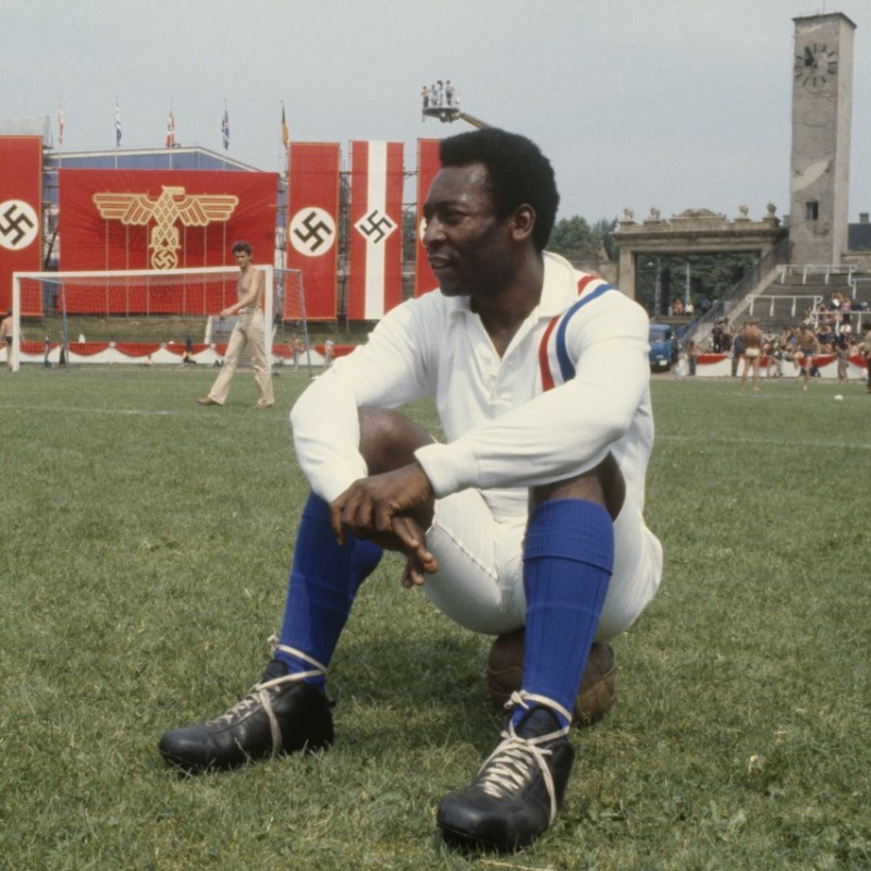 "Pele's ""Escape To Victory"" Signed Retro Shirt"