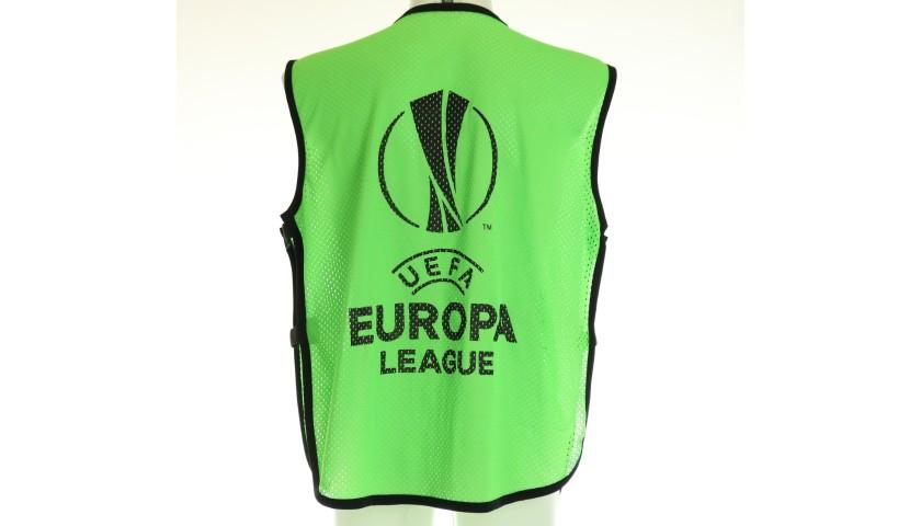 Lucas Leiva's Lazio Match Shirt, EL 2017/18 + Bib