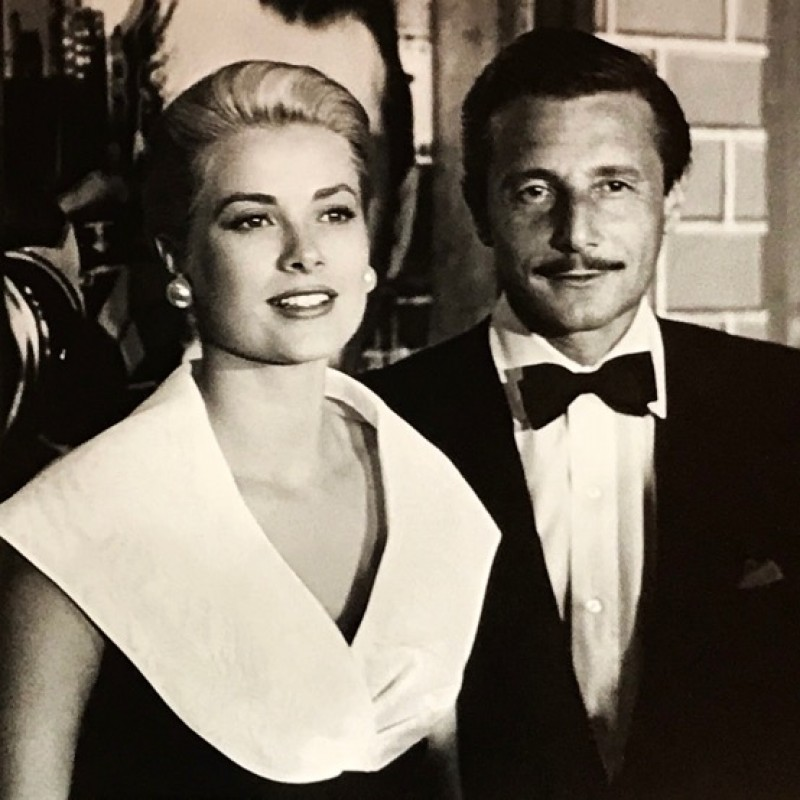 """Oleg Cassini and Grace Kelly"" by Frank Worth"