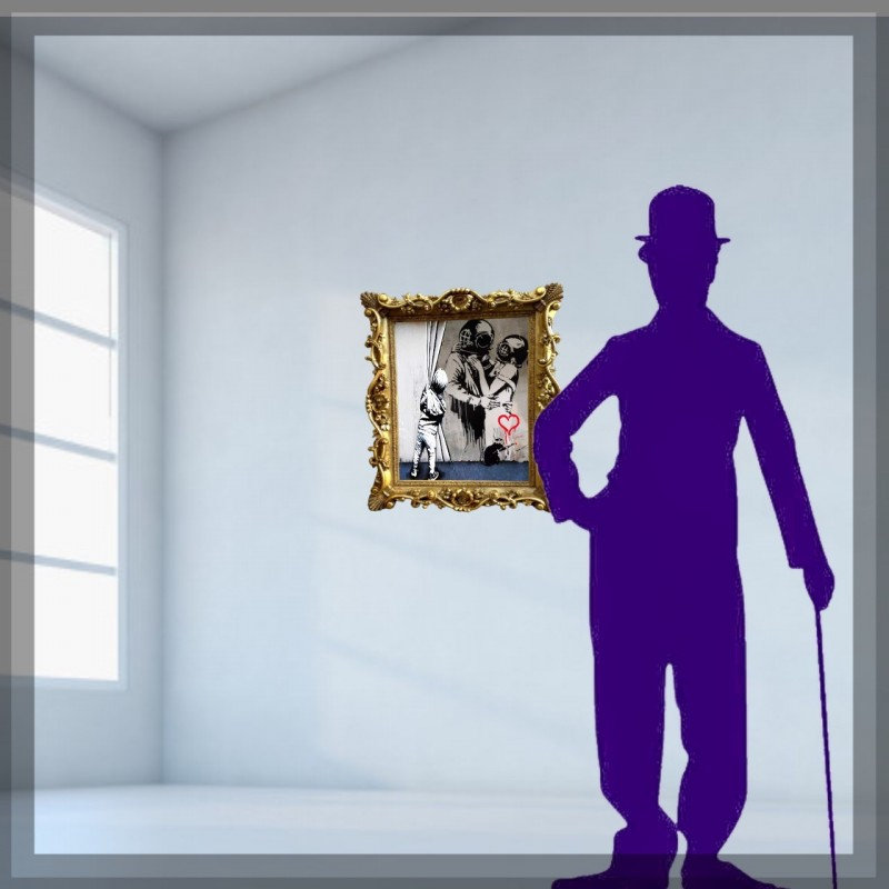 """Alone in front the painting vs Banksy"" by Mr Ogart"