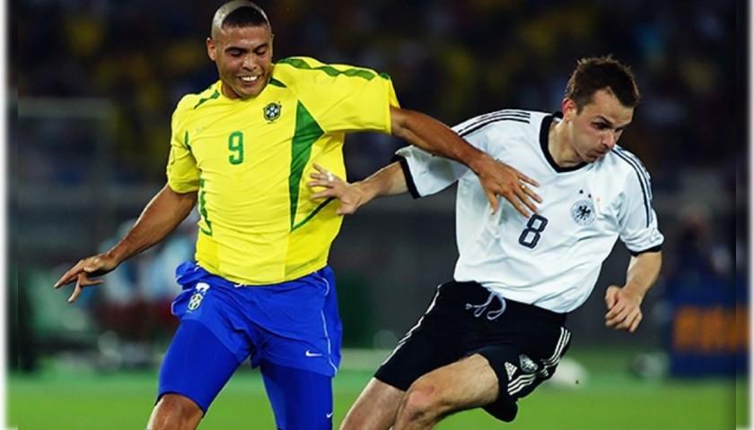 Hamann's Worn Match Shirt, Germany-Brazil 2002
