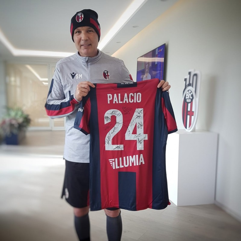 Palacio's Official Bologna Shirt, 2019/20 - Signed by the Squad