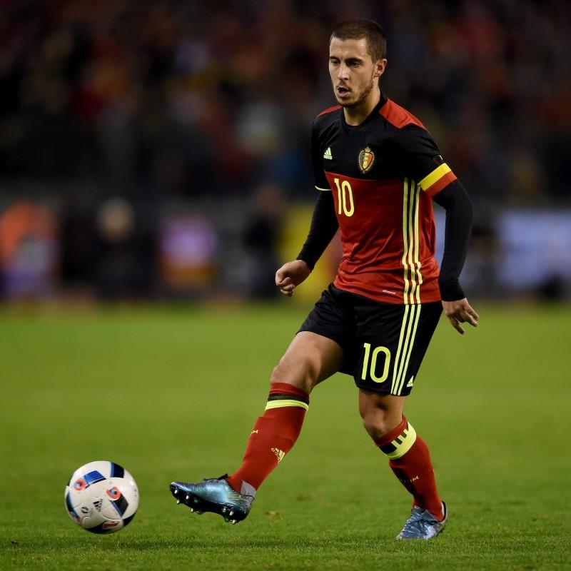 Match worn Hazard shirt, Belgium-Italy friendly match 11/13/2015
