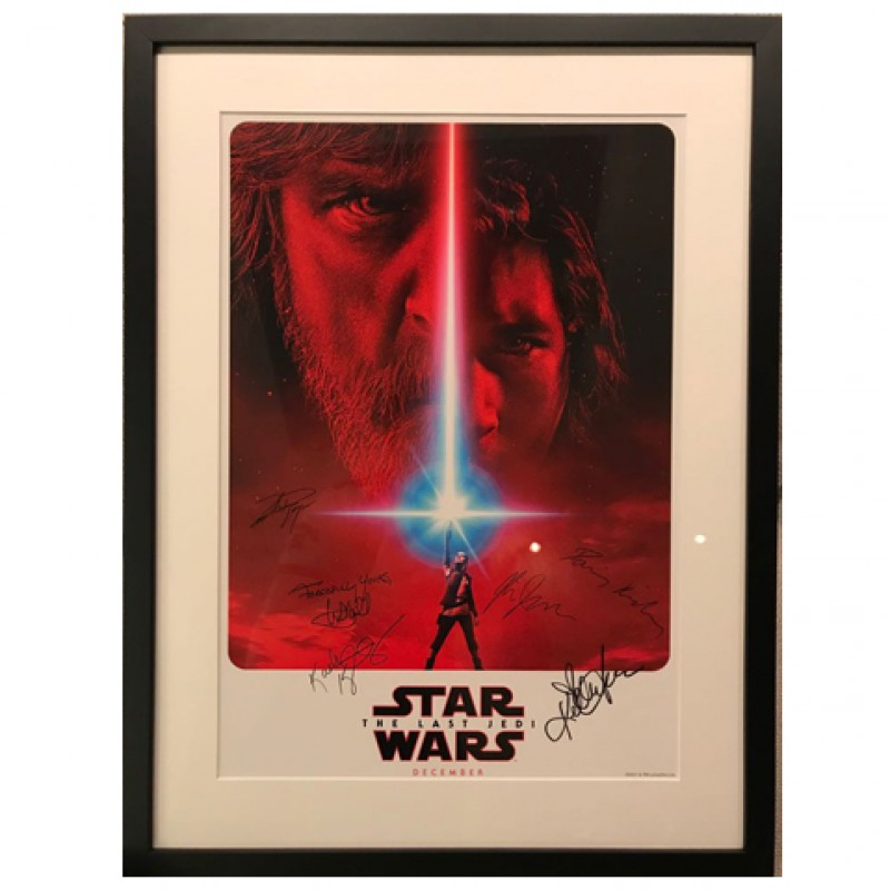 "Original and Unique Signed ""Star Wars: The Last Jedi"" Poster"