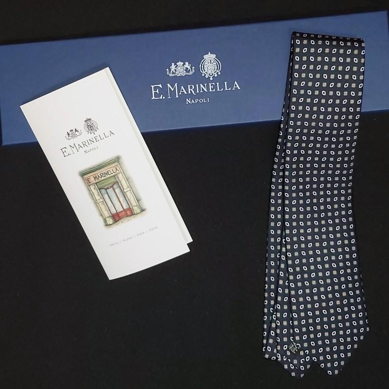 Cravatta in seta Marinella realizzata a mano