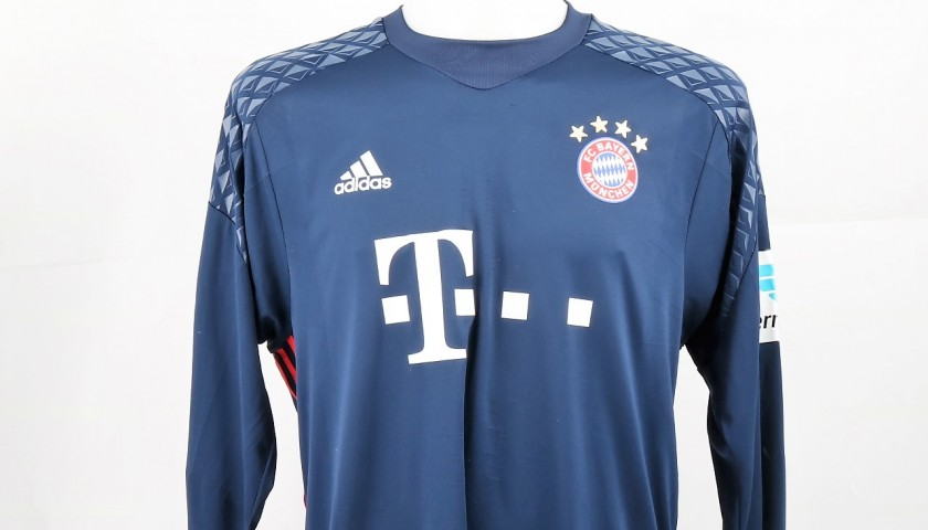 new style ab2ab 4fdda Neuer Match-Issued/Worn Shirt, Bundesliga 2015/16 - CharityStars