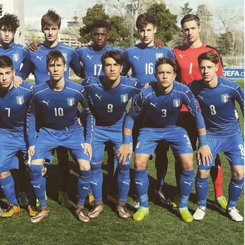 Plizzari's Italy Match-Issue/Worn Kit, World Cup U-20 2017