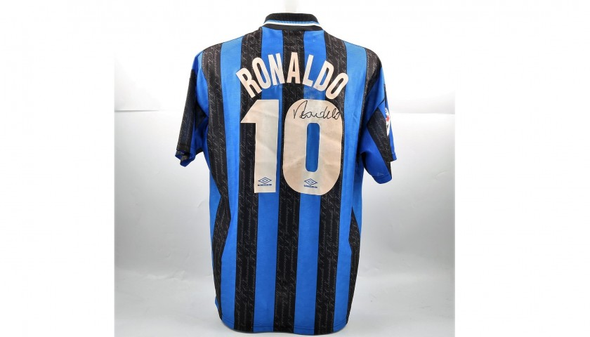 Signed Official Ronaldo 1997 98 Inter Shirt - CharityStars 0e36356f8
