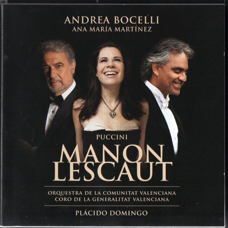 """Manon Lescaut"" CD Signed by Andrea Bocelli"