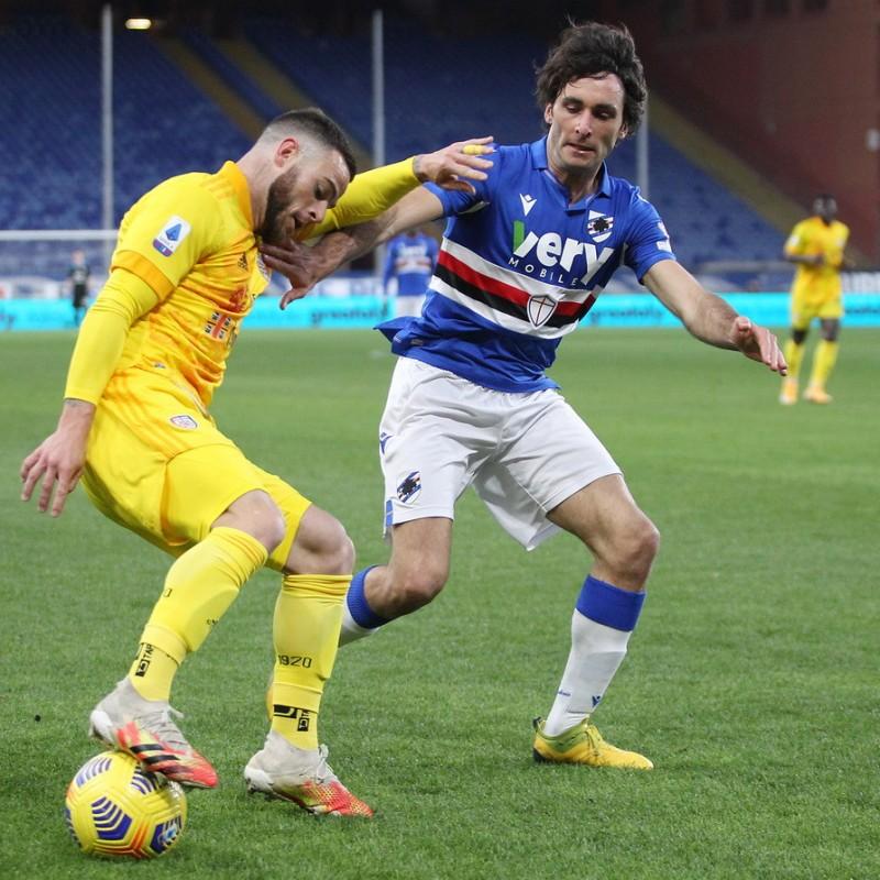Augello's Worn Shirt, Sampdoria-Cagliari, Special Patch
