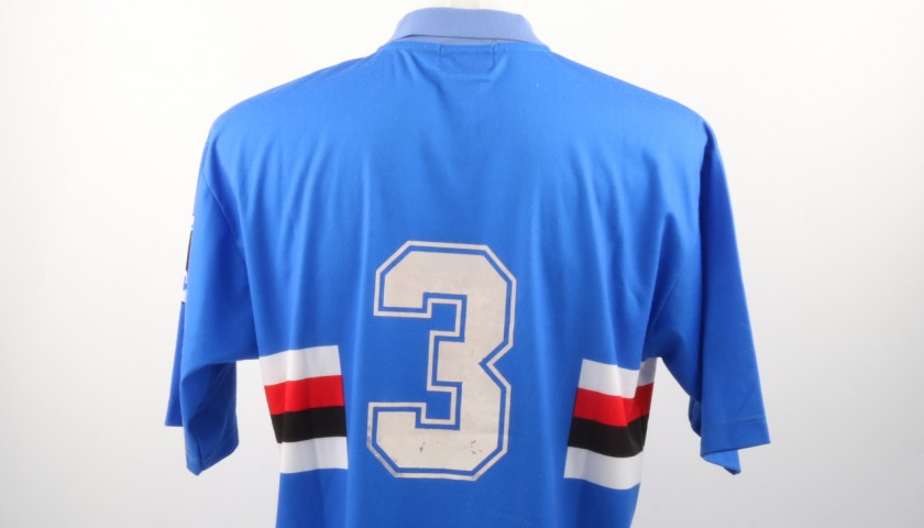 Marco Lanna Match Worn Shirt, Sampdoria-Pescara 9/05/1993