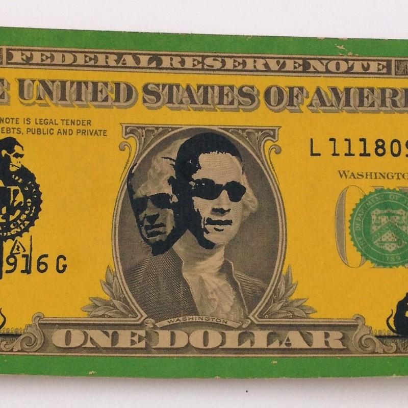 """1$ not Bansky"" G. Karloff Version - Limited Edition Work"