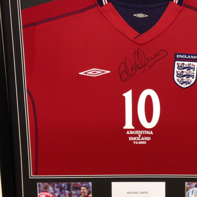 Michael Owen's Match Worn and Signed Shirt - England v Argentina, 2002 World Cup
