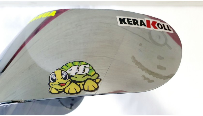 Personalized Visor Signed by Valentino Rossi